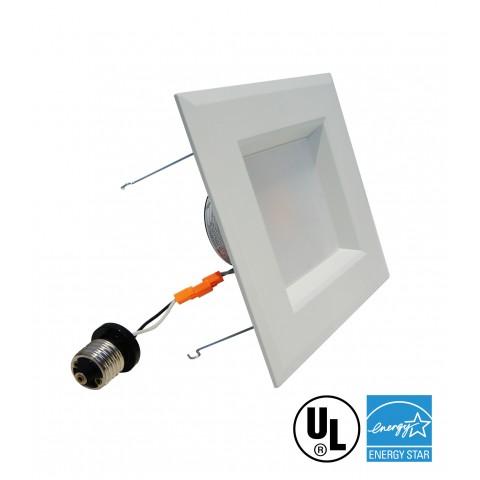 "Retrofit Square 6"" Dowlight LED Dimmable"