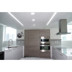 Linear lighting & Trimless Ceiling light Kitchen