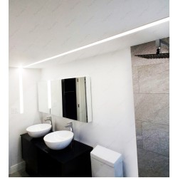 Linear Lighting Restroom