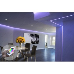 Color Changing Soffit Dining Room Purple