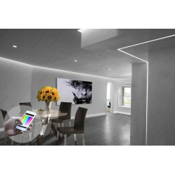 Color Changing Soffit Dining Room White