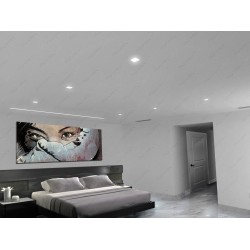 Linear lighting & Trimless Ceiling light Master Room