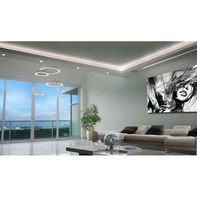 Soffit Linear Lighting Ring LED Pendant
