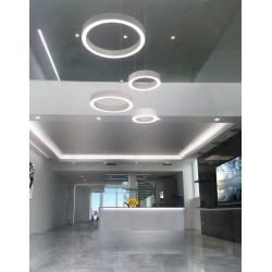 Sunny Isles Soffit, linear lighting, Ring LED Pendant TV Room