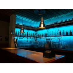 Color Changing Bar Blue